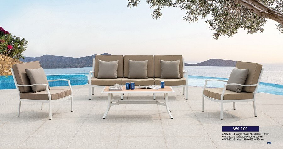 Aluminum Outdoor Garden Sofa And Chair Furniture From