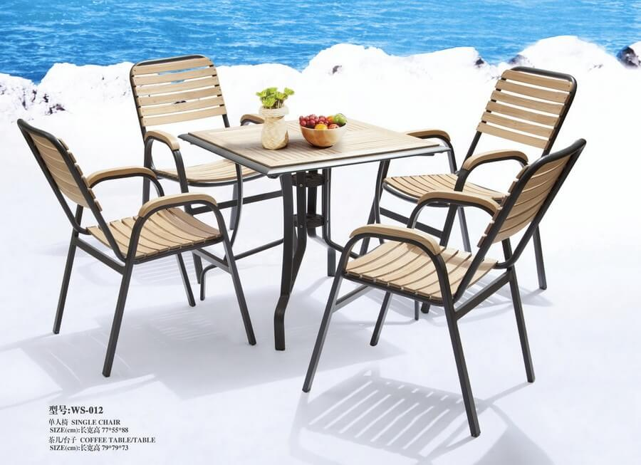 Contemporary Outdoor Table And Chairs For 4 Person Hotel