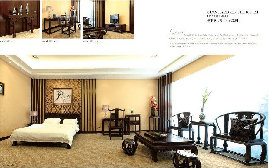 Nice Chinese Style Wooden Hotel Queen Bedroom Furniture ...