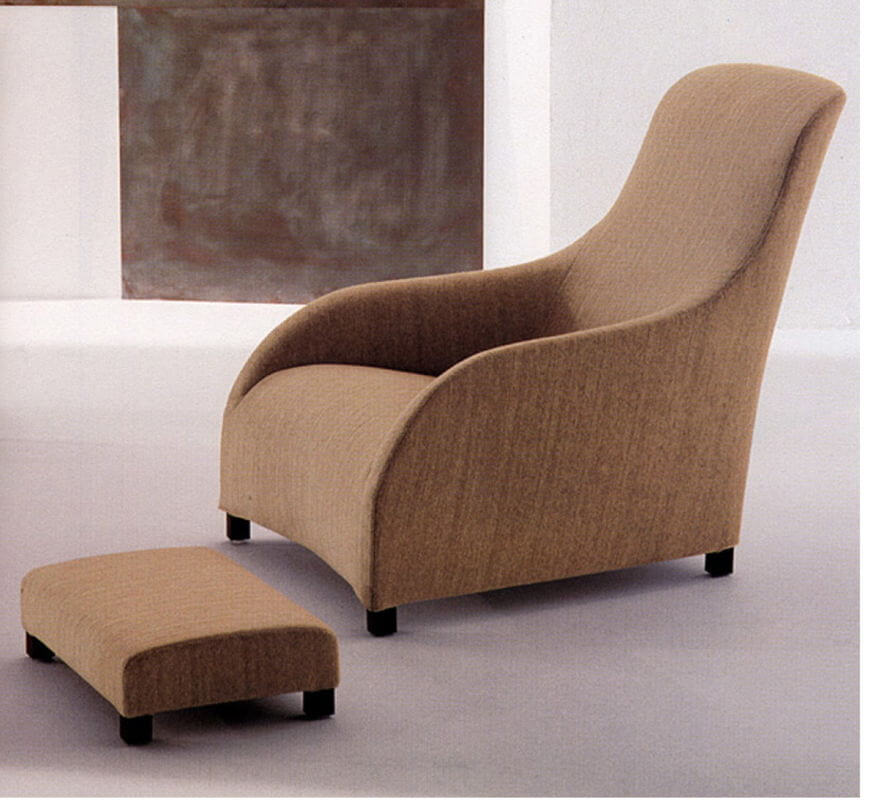 comfortable_khaki_fabric_lounge_chair_and_ottoman_wingback_for_hotel_1
