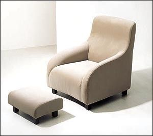 comfortable_khaki_fabric_lounge_chair_and_ottoman_wingback_for_hotel_2