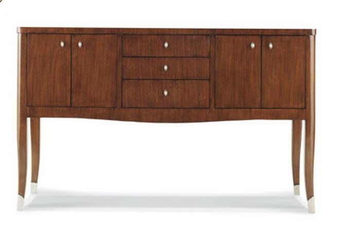 Vintage Wooden Top Drawers Half Round Console Table Sideboard Cabinet For  Living Room