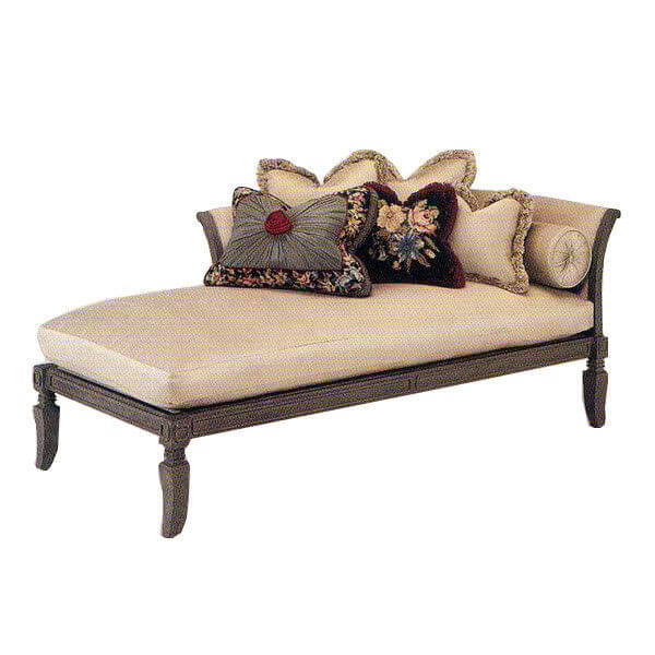 Wooden Frame Leather Indoor Chaise Lounge Chair For Hotel ...