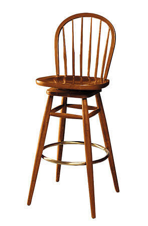 Elegant French Style Wooden Bar Stools
