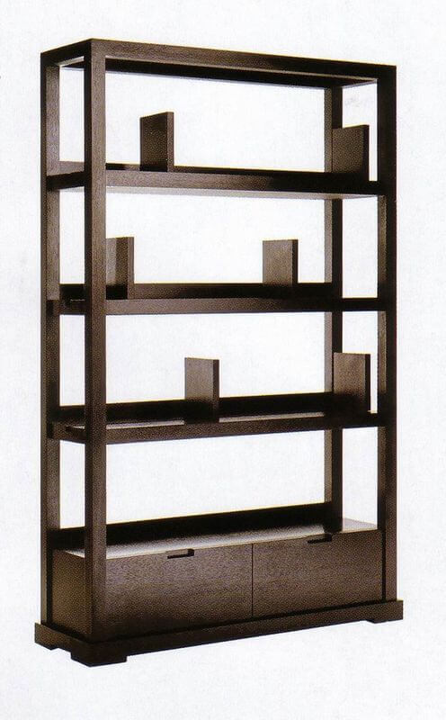 modern_hotel_lobby_furniture_solid_wood_commodity_shelf_partition_wall_walnut_veneer_1